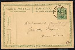 "EP N° 52 A Couleur Rosâtre -  Circulé - Circulated - Gelaufen - Obl. "" ENGIS 19 VIII 1915 "". - Cartoline [1909-34]"