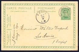 "EP N° 52 A  -  Circulé - Circulated - Gelaufen - Obl. "" ENSIVAL 27 II 1918 "". - Cartoline [1909-34]"