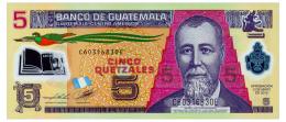 GUATEMALA 5 QUETZALES 2012 Pick 122c Unc - Guatemala