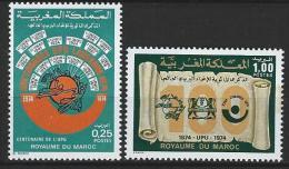 "Maroc YT 701 Et 702 "" Centenaire UPU "" 1974 Neuf** - Morocco (1956-...)"