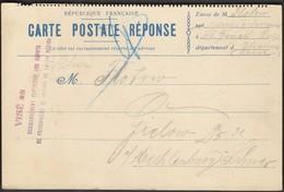 France 1915 / Postal Stationery / Carte Postale Reponse - Marcophilie (Lettres)