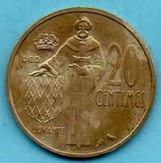 R300/  MONACO  20 CENTIMES 1962 - 1960-2001 Nouveaux Francs