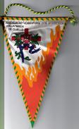 CLOTH PENNANT/FLAG- PORTUGAL QUELUZ  BOMBEIROS VOLUNTARIOS QUELUZ FIREMAN'S FIREMEN VINTAGE - Organizations
