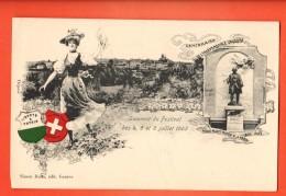 IAS-09  Souvenir Du Festival Des 4,5 Et 6 Juillet 1903. Centenaire De De L'Indépendance Vaudoise Précurseur Non Circulée - VD Vaud