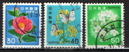 GIAPPONE - 1980 - FIORI - FLOWERS - USATI - Usados