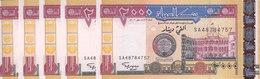 SUDAN 2000 DINARS 2002 P-62 LOT X5 UNC NOTES */* - Sudan