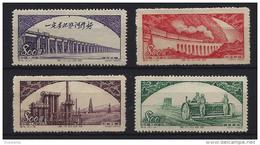 China - 1952. Building / Power Station / Harvester MNH!! Mi : 188-191. - 1949 - ... People's Republic