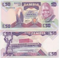 Zambia P 28 - 50 Kwacha 1986 1988 - UNC - Zambia