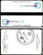 1 Ticket Transport Algeria Tram Tramway Alger Algiers Argel Billete De Transporte Tranvía - 2 Scans - Tramways