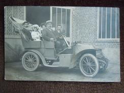 Gournay-en-Bray , Photo Carte , Le Propriétaite Des Cycles A. Mutel Dans Son Automobile , E De Puyraimond ? - Gournay-en-Bray