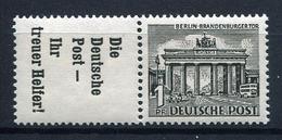 33800) BERLIN Zusammendruck W 39 Postfrisch Aus 1952, 90.- € - Neufs
