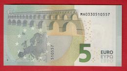 PORTUGAL - 5 EURO M002A3 DRAGHI - M002 A3 - MA0330510557 - UNC NEUF - FDS - EURO
