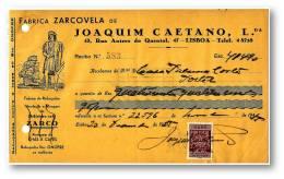 CAFÉ ZARCO - FABRICA ZARCOVELA - RECIBO N.º 583 - ZARCO COFFEE - ADVERTISING - PORTEL LISBOA PORTUGAL - Portugal