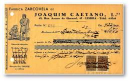 CAFÉ ZARCO - FABRICA ZARCOVELA - RECIBO N.º 526 - ZARCO COFFEE - ADVERTISING - PORTEL LISBOA PORTUGAL - Portugal
