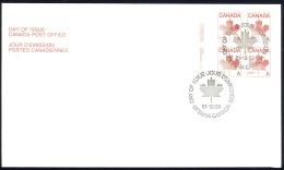 Canada Sc# 907ii (plate 3) FDC Inscription Block 1981 12.29 Maple Leaf - Premiers Jours (FDC)