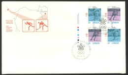 Canada Sc# 1111-1112 FDC Inscription Block 1986 10.15 1988 Olympics - First Day Covers