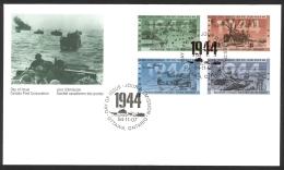 Canada Sc# 1537-1540 FDC Combination 1994 11.07 World War II - 1944 - 1991-2000