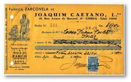 CAFÉ ZARCO - FABRICA ZARCOVELA - RECIBO N.º 749 - ZARCO COFFEE - ADVERTISING - PORTEL LISBOA PORTUGAL - Portugal