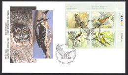 Canada Sc# 1710-1713 FDC Inscription Block 1998 03.13 Birds - 3 - First Day Covers