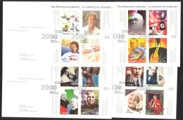 Canada Sc# 1822-1825 FDC Set/4 2000 01.17 Millennium Souvenir Sheets - Premiers Jours (FDC)