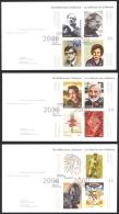Canada Sc# 1826-1830 FDC Set/5 2000 02.17 Millennium Souvenir Sheets - Premiers Jours (FDC)