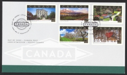 Canada Sc# 1903a-1903e FDC Combination 2001 05.11 Tourist Attractions - First Day Covers