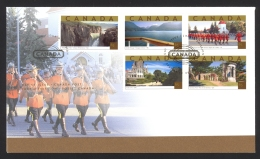 Canada Sc# 1989a-1989e FDC Combination 2003 06.12 Tourist Attractions - First Day Covers
