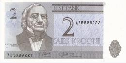 ESTONIE   2 Krooni   1992   P. 70a   UNC - Estonie