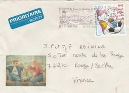 SAINT PIERRE ET MIQUELON YT 683 SEUL SUR LETTRE 2/11/98 POUR ROEZE -  TDA167 - Lettres & Documents