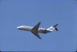 SLIDE / AVION / AIRCRAFT  KODAK ORIGINAL    SAS   DC 9   OY-KGE - Diapositive