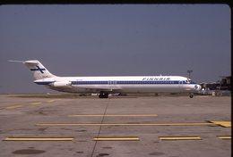 SLIDE / AVION / AIRCRAFT  KODAK ORIGINAL      FINNAIR  DC 9  OH-LYP - Diapositive