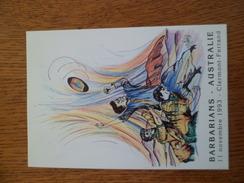 Carte Postale  Circulée  Barbarians Contre Australie Clermont Ferrand Stade Michelin 11/11/1993  Illustrée. Chabert   TB - Rugby