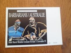 Carte Postale Neuve  Barbarians Contre Australie Clermont Ferrand Stade Michelin 11/11/1993  Comité D' Auvergne Num. TB - Rugby