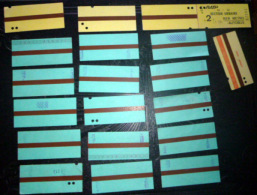 TICKETS  DE METRO BUS    LOT DE 20 TICKETS ANCIENS  LOT N°17 - Titres De Transport