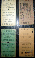 TICKETS  DE METRO  LOT DE 4 TICKETS  ANCIENS  LUXEMBOURG  SPECIAL PICASSO CALVI  DEHRADUN LOT N°19 - Titres De Transport