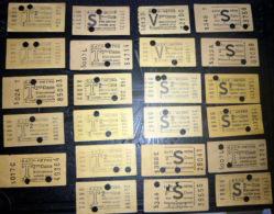 TICKETS  DE  METRO  LOT DE 23 TICKETS  ANCIENS  2° CLASSE ET  VALABLE 2 VOYAGES SUCCESSIFS  LOT N°24 - Titres De Transport