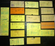 TICKETS  DE  METRO ET SNCF  LOT DE 29 TICKETS  ANCIENS   LOT N°25 - Autres