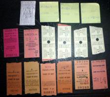 TICKETS  DE  TRAIN SNCF TICKETS DE QUAIS  LOT DE 11 TICKETS  ANCIENS LOT N°27 - Titres De Transport