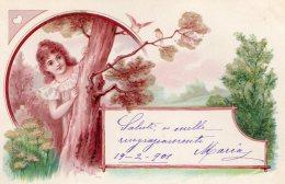 [DC9843] CPA - BELLISSIMA CARTOLINA D'EPOCA - IN RILIEVO BRILLANT - Viaggiata 1901 - Old Postcard - Cartoline