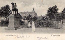 [DC9851] CPA - DANIMARCA - KOBENHAVN - VESTRE BOULEVARD - Viaggiata 1904 - Old Postcard - Danimarca