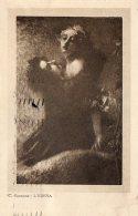 [DC9869] CPA - QUADRO - L'EDERA DI TRANQUILLO CREMONA - Viaggiata 1927 - Old Postcard - Pittura & Quadri