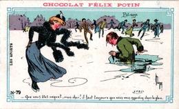 7 Cards Ice-Skating Patinage Sur Glace Eislaufen PUB  Choc Felix Potin Imp Verger Paris Botot Dunoise Drayer Stollwerck - Sports D'hiver
