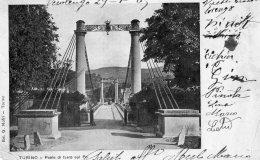 [DC9900] CPA - TORINO - PONTE DI FERRO SUL PO - Viaggiata 1905 - Old Postcard - Bridges