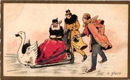 6 Cards Ice-Skating Patinage Sur Glace Eislaufen PUBChaussures Fayard Choc Des Gourmets Drapeau Belge Namur - Sports D'hiver