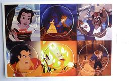 PLAQUE DE POG DISNEY LA BELLE ET LA BETE (2) - 6 POGS - Disney