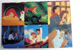 PLAQUE DE POG DISNEY LA PETITE SIRENE - 6 POGS - Disney