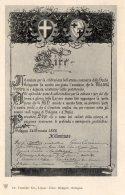 [DC9976] CPA - SIRE - ANNUCIO E ATTESTAZIONE - Non Viaggiata - Old Postcard - Case Reali