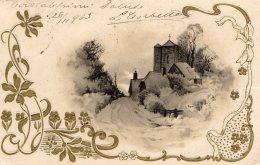 [DC9997] CPA - BELLISSIMA CARTOLINA D´EPOCA ORIGINALE IN RILIEVO - PAESAGGIO - Viaggiata 1903 - Old Postcard - Cartoline