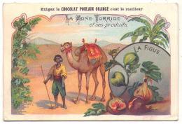 (Chromos) Chocolat Poulain Orange 339, La Zone Torride, La Figue - Poulain