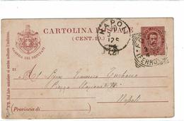 CTN48 - ITALIE EP CP UMBERTO I CAMERA DEI DEPUTATI  CIRCULE FOGGIA / NAPOLI MARS 1894 - 1878-00 Humbert I
